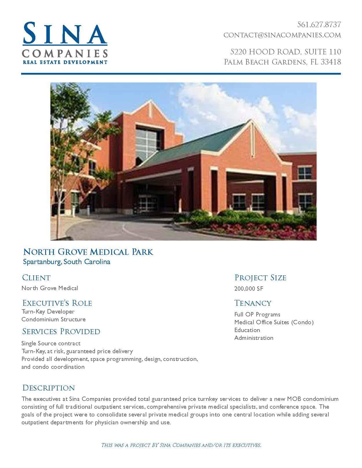 North Grove Medical Park in Spartanburg