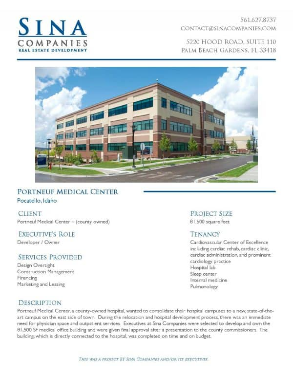 Portneuf Medical Center Printable Case Study