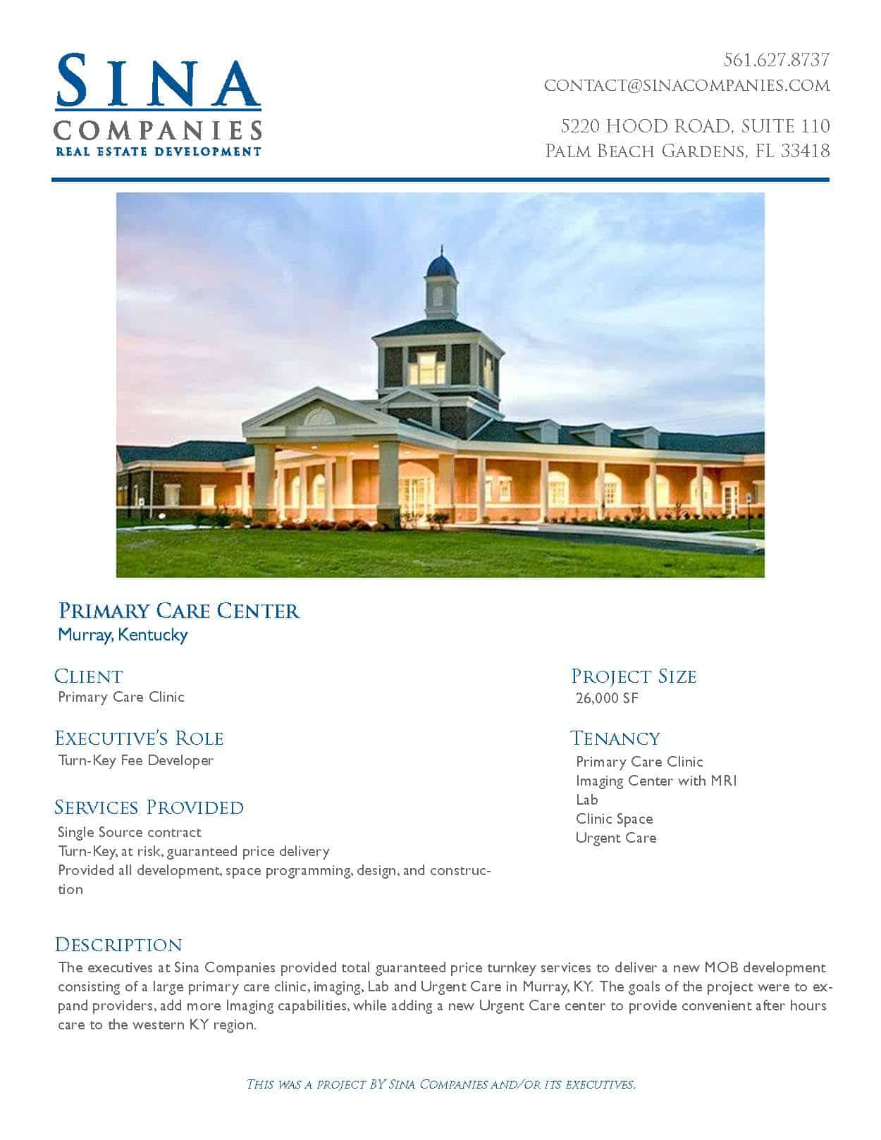 Primary Care Center in Murray, Kentucky